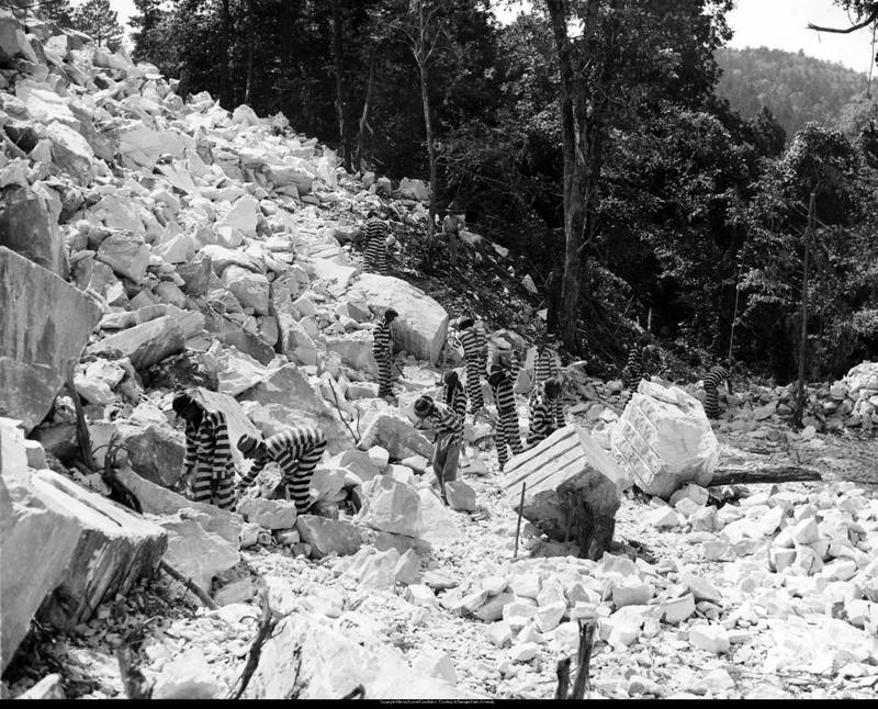 Prisoners Working at Quarry