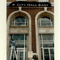 Atlanta City Hall, Workers Prepare for the Opening of City Hall East on Ponce de Leon Avenue,