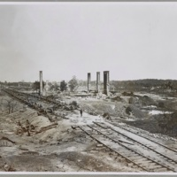 Atlanta, GA, 1864. Destruction of Hood's Ordinance Train, Georgia Central Railroad