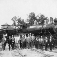 Arrival of the Atlanta, Birmingham & Atlantic Railroad